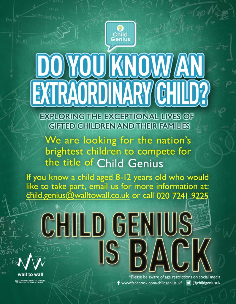 Child Genius 2019 Flyer