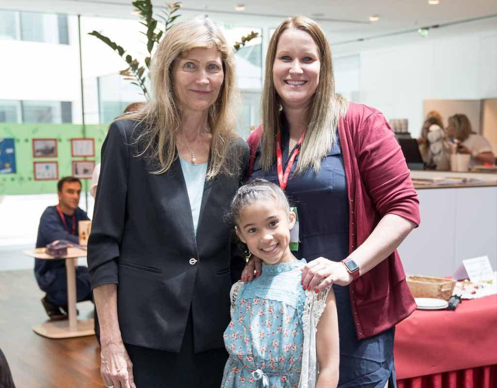 Jaylin with Ingeborg Hochmair MED EL Founder